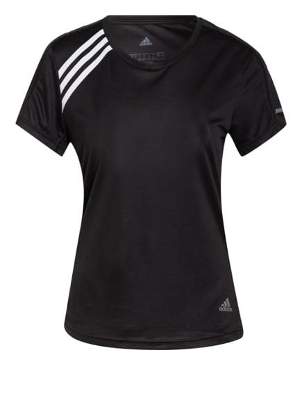 adidas Laufshirt RUN IT mit Mesh-Einsätzen, Farbe: SCHWARZ (Bild 1)