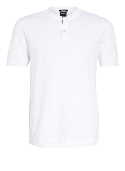 BOSS Piqué-Poloshirt, Farbe: WEISS (Bild 1)