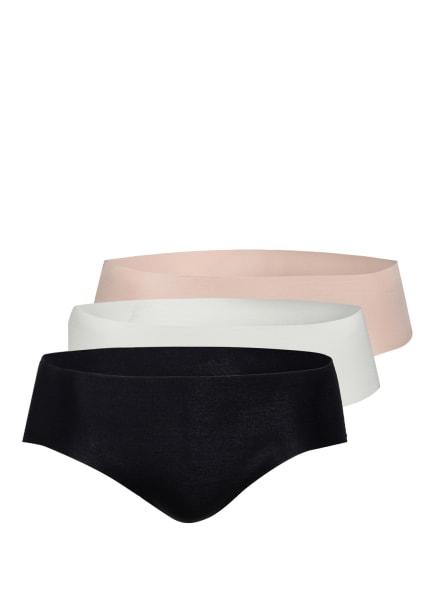 CALIDA 3er-Pack Panties, Farbe: BEIGE/ SCHWARZ/ CREME (Bild 1)