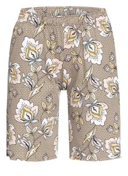 CALIDA Lounge-Shorts, Farbe: BEIGE/ WEISS/ HELLROSA (Bild 1)