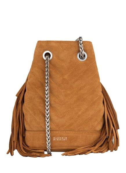 CLAUDIE PIERLOT Handtasche ANDY, Farbe: CAMEL (Bild 1)