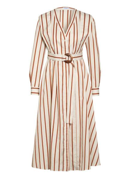 CLAUDIE PIERLOT Kleid RAPSODIE , Farbe: CREME/ BRAUN/ DUNKELBLAU (Bild 1)