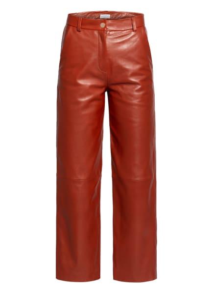 CLAUDIE PIERLOT 7/8-Lederhose CABARET, Farbe: DUNKELROT (Bild 1)
