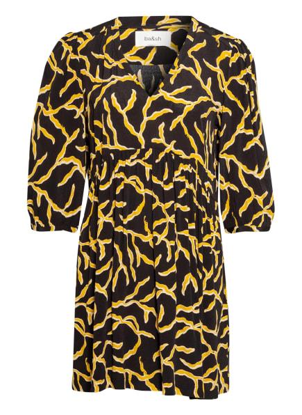 ba&sh Kleid CONSTANCE, Farbe: SCHWARZ/ DUNKELGELB/ ECRU (Bild 1)
