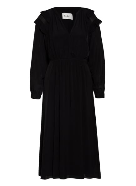 ba&sh Kleid ULLA mit Rüschenbesatz, Farbe: SCHWARZ (Bild 1)