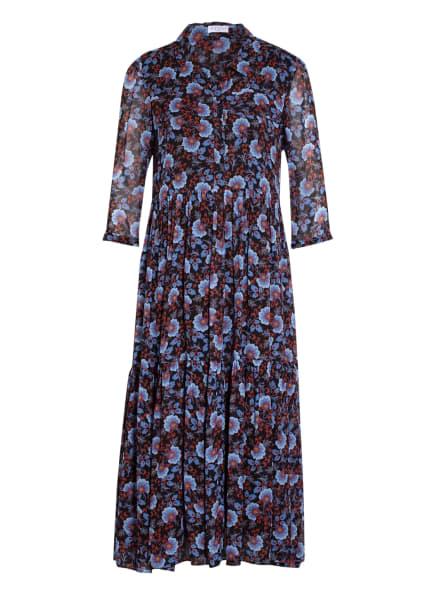 CLAUDIE PIERLOT Kleid RALEUSE mit 3/4-Arm, Farbe: SCHWARZ/ BLAU/ DUNKELROT (Bild 1)