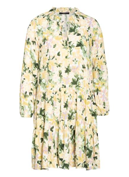 mavi Kleid mit Rüschenbesatz, Farbe: CREME/ DUNKELGRÜN/ DUNKELGELB (Bild 1)