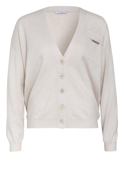 BRUNELLO CUCINELLI Cashmere-Strickjacke, Farbe: CREME (Bild 1)