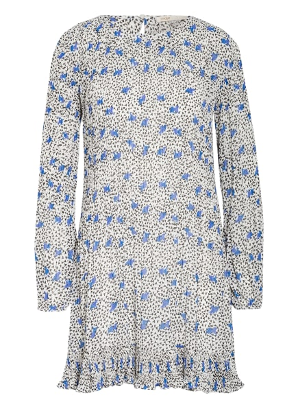 maje Plisseekleid ROCKYA mit Volantbesatz, Farbe: WEISS/ SCHWARZ/ BLAU (Bild 1)