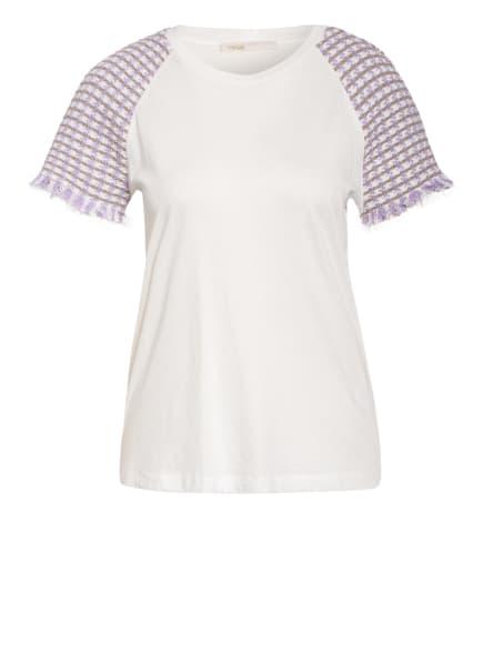 maje T-Shirt TWEED, Farbe: WEISS/ HELLLILA/ HELLBRAUN (Bild 1)
