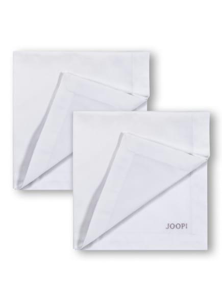 JOOP! 2er-Set Servietten STITCH , Farbe: WEISS/ BEIGE (Bild 1)