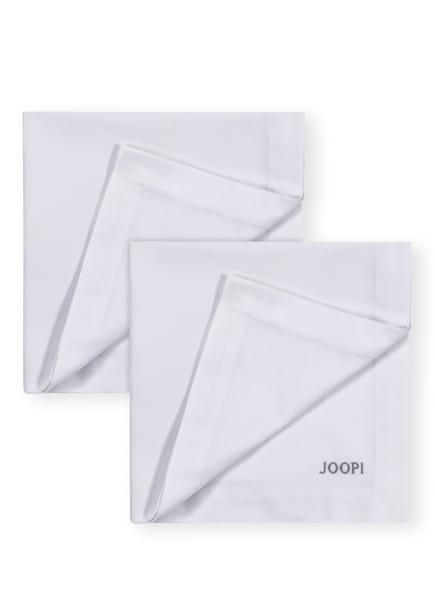 JOOP! 2er-Set Servietten STITCH , Farbe: WEISS/ HELLGRAU (Bild 1)