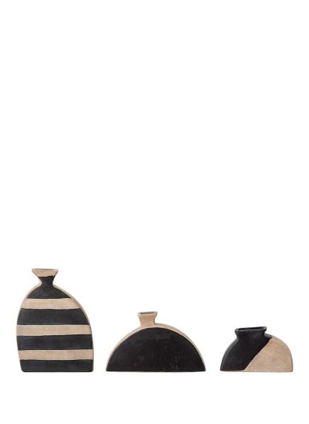 Bloomingville 3er-Set Vasen NEZHA, Farbe: SCHWARZ/ BEIGE (Bild 1)