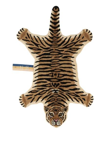 Doing GOODS Teppich DROWSY TIGER, Farbe: CREME/ BEIGE/ SCHWARZ (Bild 1)