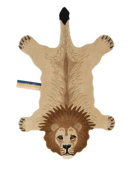 Doing GOODS Teppich MOODY LION, Farbe: CREME/ BEIGE/ SCHWARZ (Bild 1)