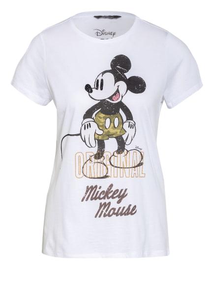 Princess GOES HOLLYWOOD T-Shirt mit Schmucksteinbesatz, Farbe: WEISS/ SCHWARZ/ OLIV (Bild 1)