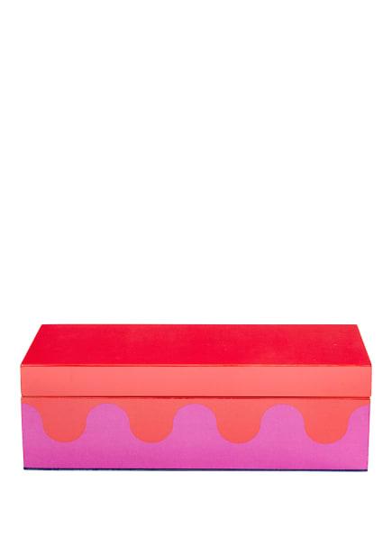 JONATHAN ADLER Aufbewahrungsbox RIPPLE SMALL, Farbe: PINK/ ROT (Bild 1)