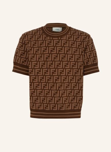 FENDI Strickshirt , Farbe: BRAUN/ HELLBRAUN (Bild 1)