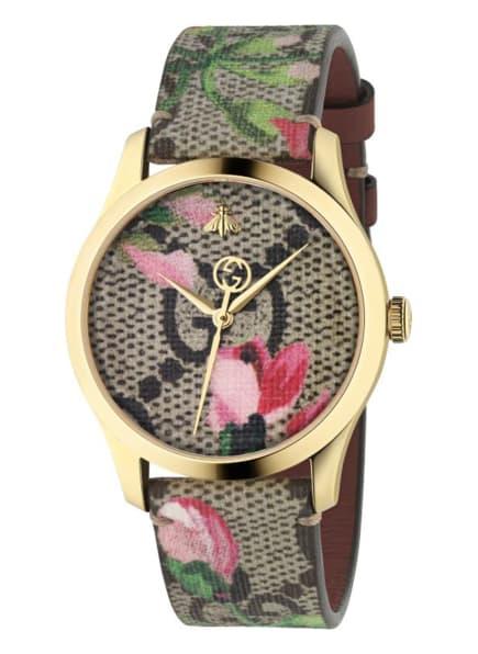 GUCCI Armbanduhr G-TIMELESS, Farbe: GOLD/ BRAUN/ ROSA (Bild 1)