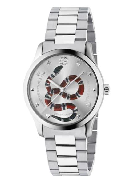GUCCI Armbanduhr G-TIMELESS, Farbe: SILBER/ DUNKELROT (Bild 1)
