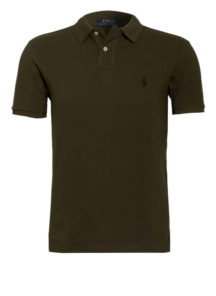 POLO RALPH LAUREN Piqué-Poloshirt Slim Fit, Farbe: OLIV (Bild 1)