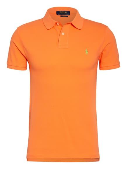 POLO RALPH LAUREN Piqué-Poloshirt Slim Fit, Farbe: NEONORANGE (Bild 1)