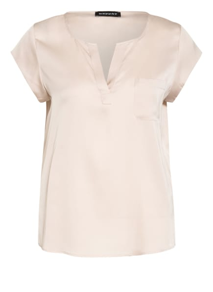 REPEAT Blusenshirt aus Seide, Farbe: CREME (Bild 1)
