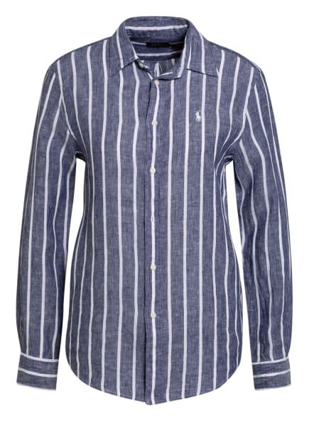 POLO RALPH LAUREN Hemdbluse aus Leinen, Farbe: WEISS/ DUNKELBLAU (Bild 1)