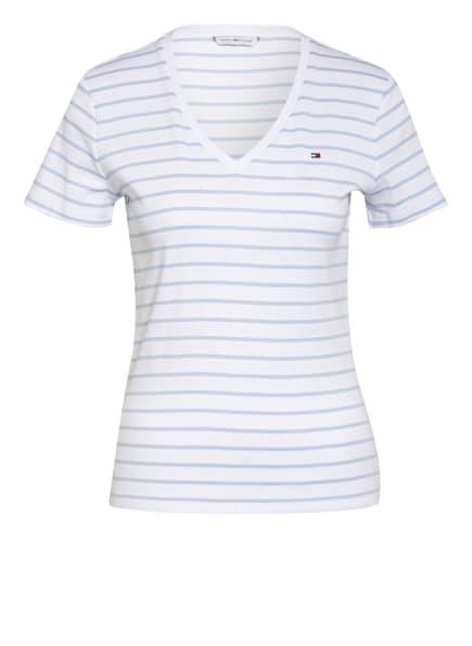 TOMMY HILFIGER T-Shirt AISHA, Farbe: WEISS/ BLAUGRAU (Bild 1)