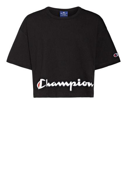 Champion Cropped-Shirt, Farbe: SCHWARZ (Bild 1)