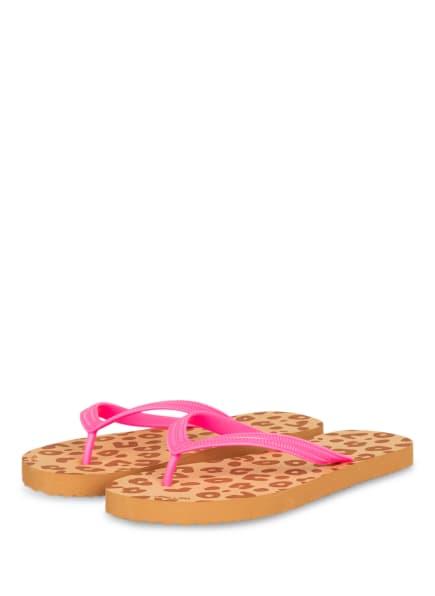 flip*flop Zehentrenner ORIGINALS ANIMAL, Farbe: BRAUN/ PINK (Bild 1)
