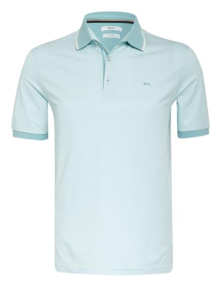BRAX Jersey-Poloshirt PACO, Farbe: TÜRKIS/ WEISS (Bild 1)