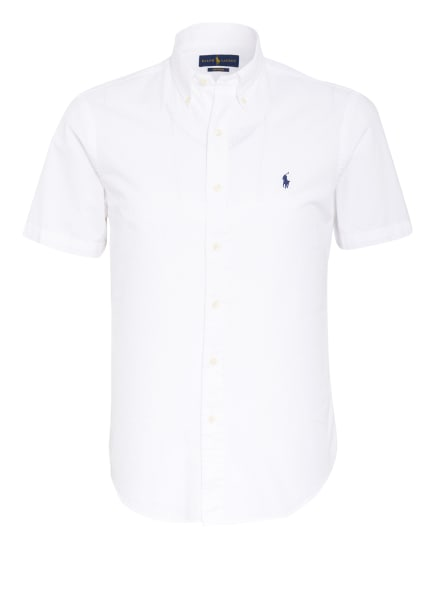 POLO RALPH LAUREN Kurzarm-Hemd Custom Fit, Farbe: 001 WHITE (Bild 1)