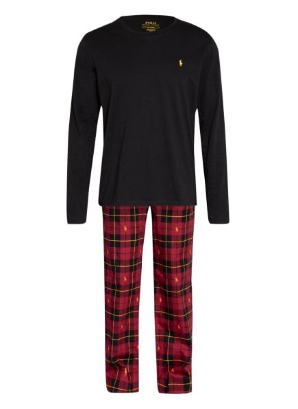 POLO RALPH LAUREN Schlafanzug in Geschenkbox , Farbe: ROT/ SCHWARZ/ DUNKELGELB (Bild 1)