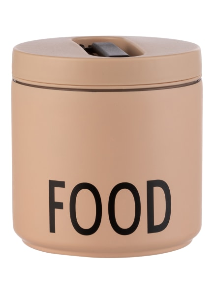 DESIGN LETTERS Thermo-Lunchbox FOOD LARGE, Farbe: NUDE/ SCHWARZ (Bild 1)
