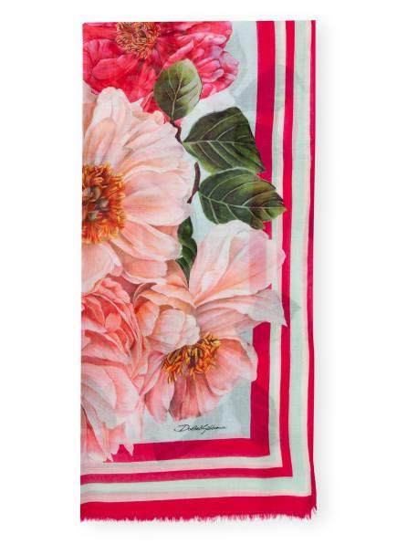 DOLCE&GABBANA Schal, Farbe: ROSA/ GRÜN/ TÜRKIS (Bild 1)