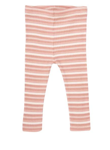 PETIT BY SOFIE SCHNOOR Leggings mit Glitzergarn , Farbe: ROSÉ/ WEISS/ SILBER (Bild 1)