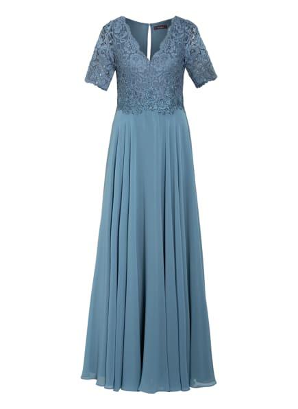 Vera Mont Abendkleid mit Paillettenbesatz , Farbe: 8495 Blue Dust (Bild 1)
