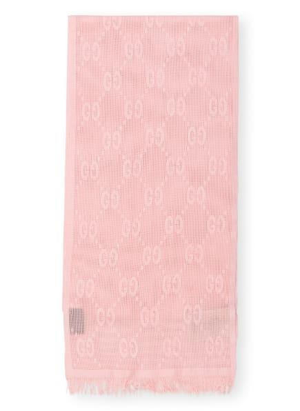GUCCI Jacquard-Schal mit Seide, Farbe: ROSA (Bild 1)