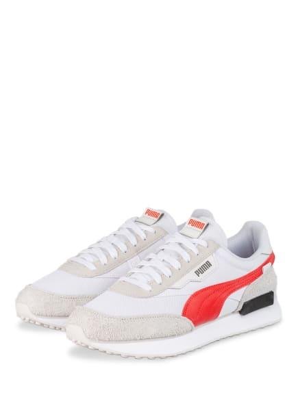 PUMA Sneaker FUTURE RIDER VINTAGE , Farbe: WEISS/ ROT (Bild 1)