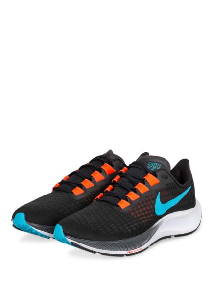 Nike Laufschuhe AIR ZOOM PEGASUS 37, Farbe: SCHWARZ/ NEONROT/ HELLBLAU (Bild 1)