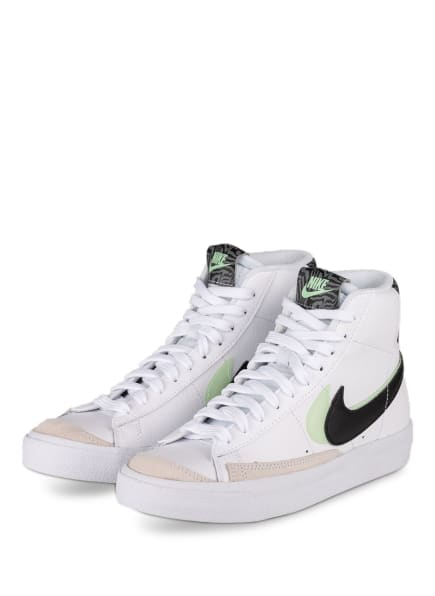 Nike Hightop-Sneaker BLAZER MID '77, Farbe: WEISS/ SCHWARZ/ MINT (Bild 1)