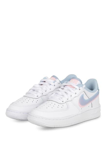 Nike Sneaker FORCE 1 LV8, Farbe: WEISS/ HELLBLAU/ HELLROSA (Bild 1)
