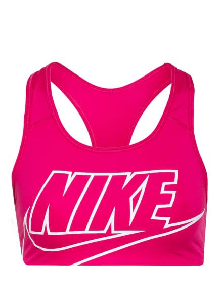 Nike Sport-BH SWOSH, Farbe: FUCHSIA/ WEISS (Bild 1)