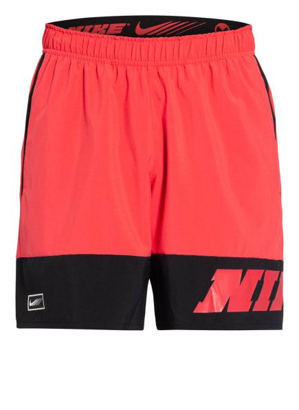 Nike Trainingsshorts SPORT CLASH mit Mesh-Einsätzen, Farbe: PINK/ SCHWARZ (Bild 1)