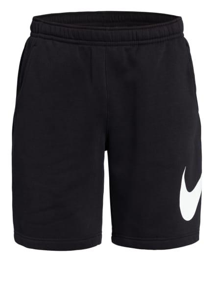 Nike Sweatshorts SPORTSWEAR CLUB, Farbe: SCHWARZ/ WEISS (Bild 1)