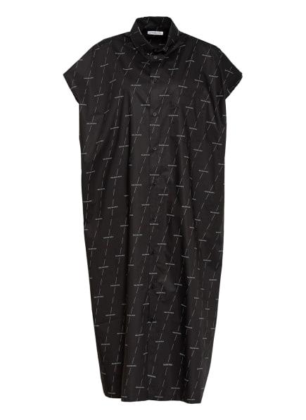 BALENCIAGA Hemdblusenkleid , Farbe: SCHWARZ/ HELLGRAU (Bild 1)