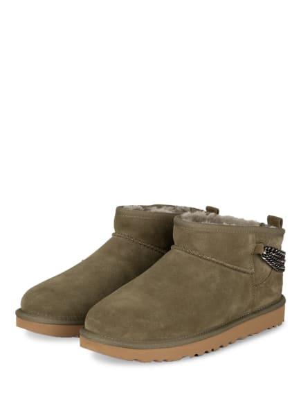 UGG Boots CLASSIC ULTRA MINI CHAINS, Farbe: OLIV (Bild 1)
