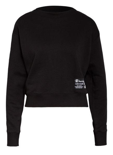 Champion Sweatshirt mit Galonstreifen, Farbe: SCHWARZ (Bild 1)