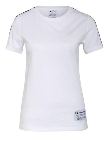 Champion T-Shirt mit Galonstreifen, Farbe: WEISS (Bild 1)